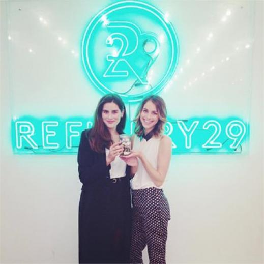 Lucie Fink of Refinery29 with Lauren Singer