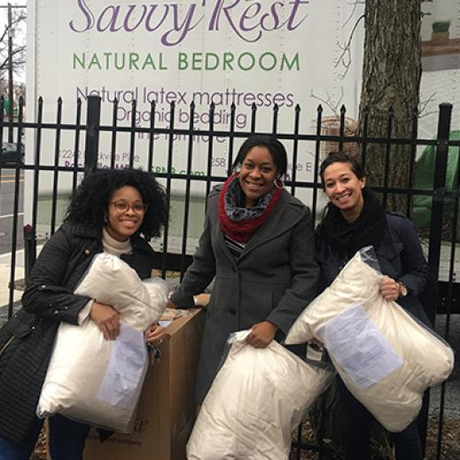 Savvy Rest Natural Bedroom organic pillow donations