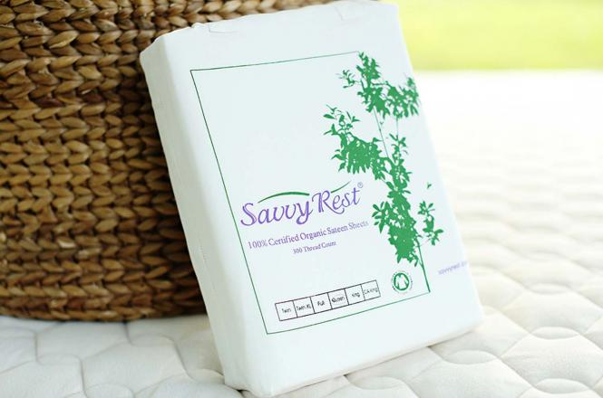 Organic cotton sheets from Savvy Rest