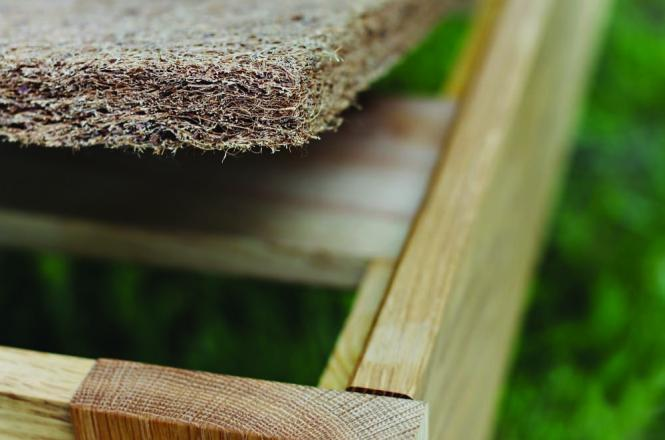 Natural Bed Rug made with coir (coconut fiber) and natural latex
