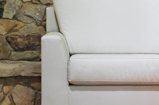 low-arm organic sofa