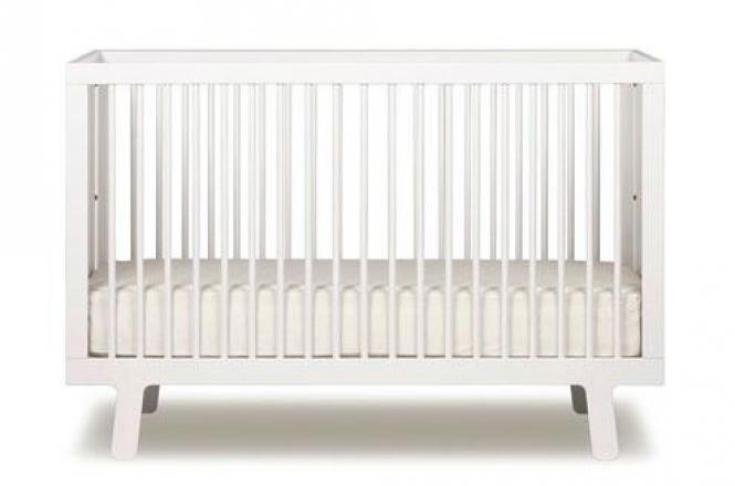 Oeuf Sparrow Crib White.