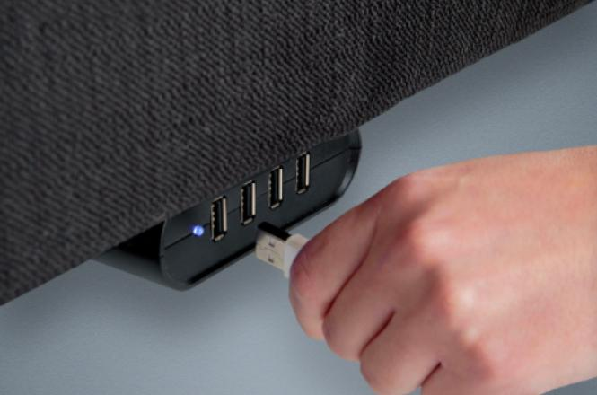 Leggett & Platt S-Cape+ 2.0 Adjustable Bed USB ports