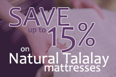 Talalay latex mattress promotion