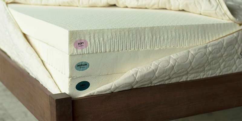 Layers of latex in a mattress.