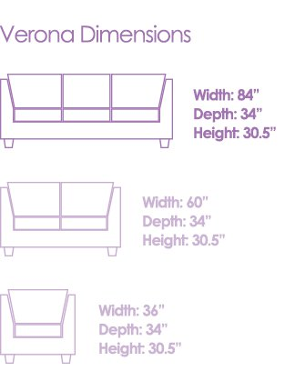 savvy rest sofa dimensions