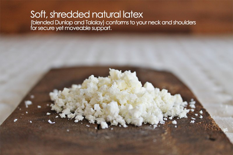 organic pillows with shredded natural latex