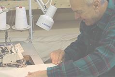 Sewing organic pillows